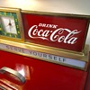1950's Coca Cola Counter , metal and glass light up clock.