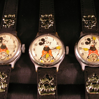 1933 - 1937 Mickey Mouse Watches - Wristwatches
