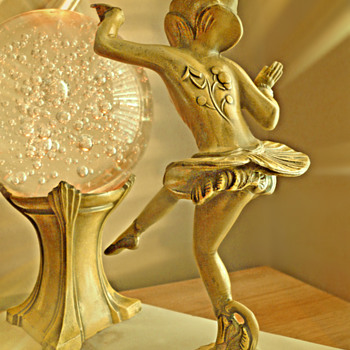 Pixie Lamp with Bubble Glass - DANSEUSE DES INDES by Ignacio Gallo - Art Deco