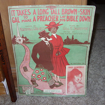 1917 black sheet music - Music