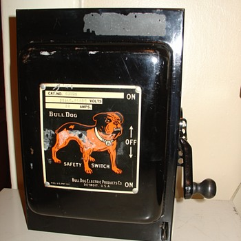 antique BULLDOG SAFETY SWITCH