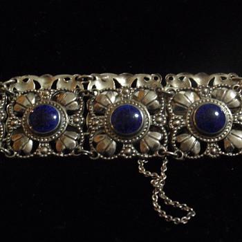 Art Nouveau WMF enamel & silver bracelet