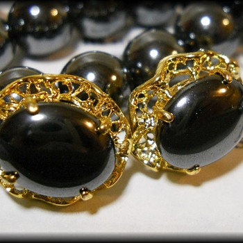 Jewelry Set ~ Hematite ~ ( Alaska Black Diamond )