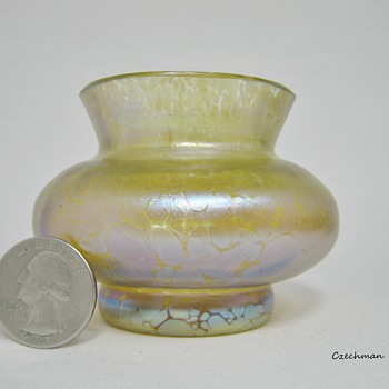 Miniature Loetz Candia Papillon Art Glass pre 1900  - Art Glass