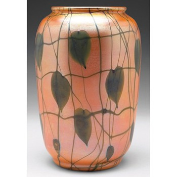 DURAND HEART AND VINE VASE c. 1925