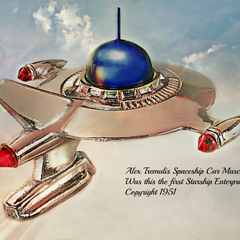 Alex Tremulis Spaceship Hood Ornament - Art Deco