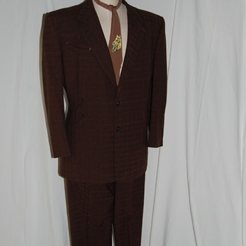 1950's Original Nudie Suit Made for Jim Denny - Mens Clothing