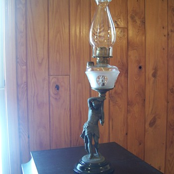 EGYPTIAN WARRIOR KEROSENE LAMP