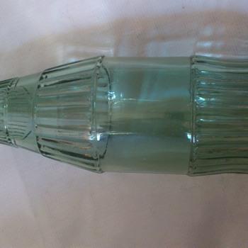 vintage glass bottle 80s