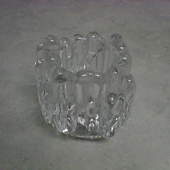 CRYSTAL CANDLE HOLDER - Glassware