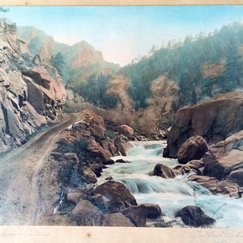 St. Vrain Canyon Boulder Colorado Hand Tinted Photo  - Photographs