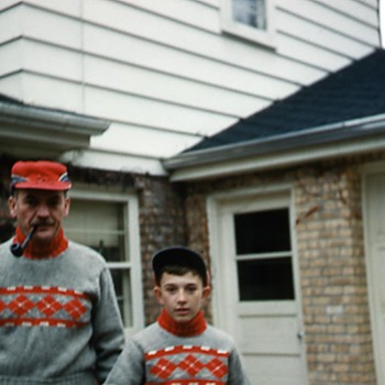 A shot from the Holiday Season around 1958, my dad and I.