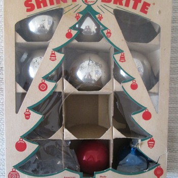 Boxes of vintage ornaments - Christmas