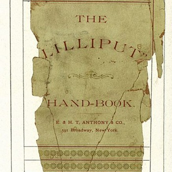 Anthony Lilliput Camera Handbook Cover; a Digital Restoration - Cameras
