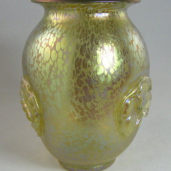 "Loetz Candia Papillon ""Butterflies"" vase from 1920s - Art Glass"