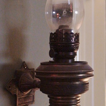 Adams Westlake Adlake Train Caboose Wall Kerosene Lamp 1930s