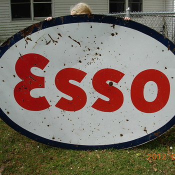 old ESSO, 5x7 foot.  Early 60's?? - Signs