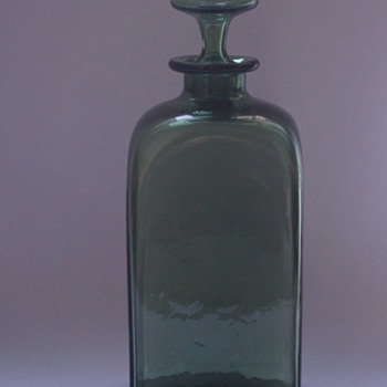 Whitefriars Green Decanter