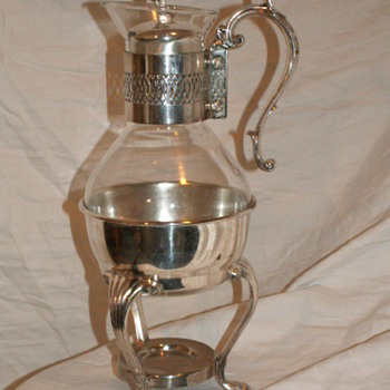 Vintage F.B. Rogers Silver Coffee Carafe W/ Warmer Stand - Sterling Silver