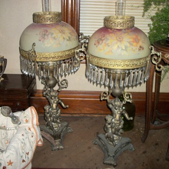 Gone with the wind oil lamps