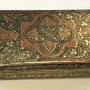 Antique coloured metal cigar/cigarette case/box