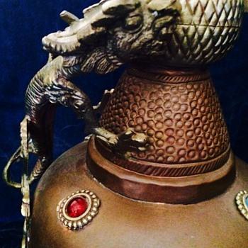 Large Vintage Dragon Vase