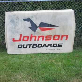 Old Johnson Outboard Sign - Signs