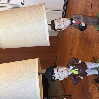 Laurel And Hardy Lamps - Figurines