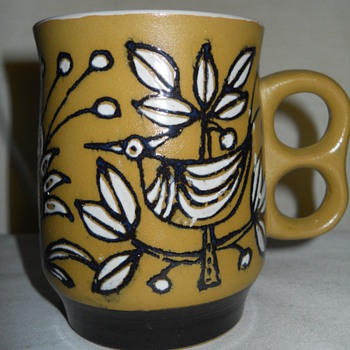 Unique Two-finger Handle Mug made in JAPAN