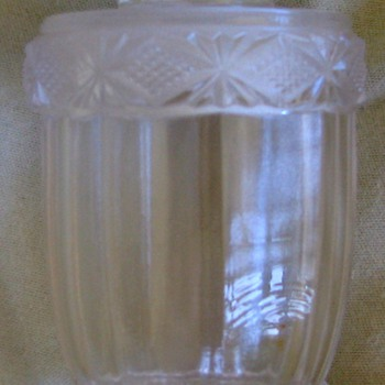 Brilliant glass jar with ground stopper