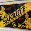 1964 Sakrete Cement Tin Sign