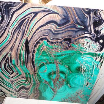 Abstract Art Glass Panel - Visual Art