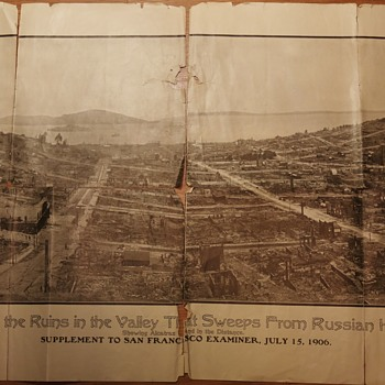 San Francisco Panorama right after the 1906 Quake - Photographs