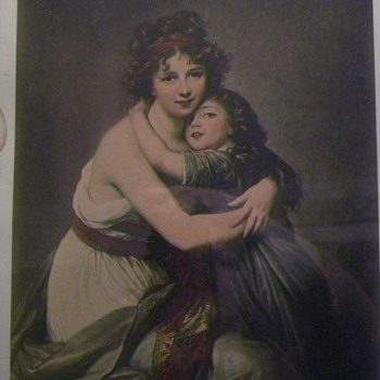 "Print ""Le Brun & Daughter"" signed?? - Posters and Prints"