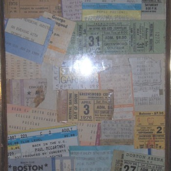 Concert Tickets Stubs from Concerts I went to.