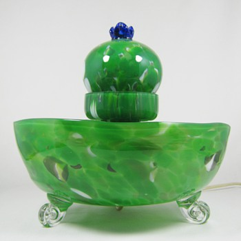 RARE Karl Palda Czech art deco era Lamp ca. 193o's - Art Glass
