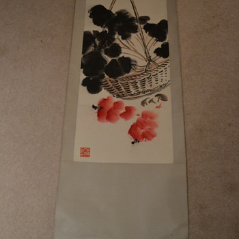 Asian  Basket Scroll