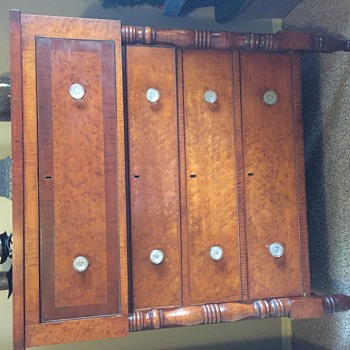 Inherited Dresser-My mother collected antique furniture and I am trying to learn more about this dresser. I believe it is 1800s - Furniture