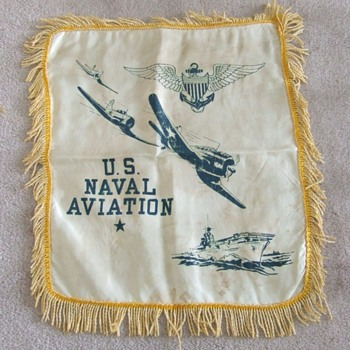 WW2 USN Pilot souvenir pillow cover - Military and Wartime