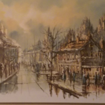 Late 1800's oil on canvas painting with signature of L.Alias - Visual Art