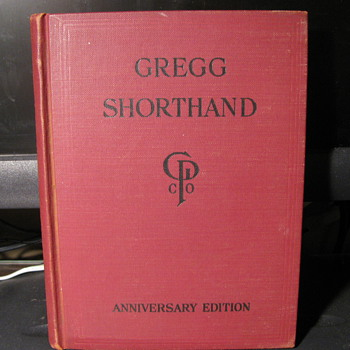1929 Gregg Shorthand Anniversary Edition Book