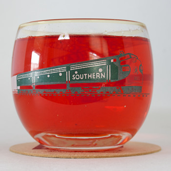 Southern Railway Roly Poly Drinking Glasses - Railroadiana