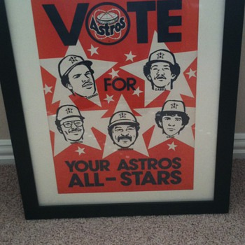 1960's Houston Astros All Star Poster