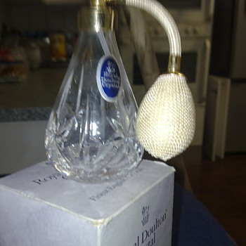 ROYAL DOULTON CRYSTAL ATOMIZER - Bottles