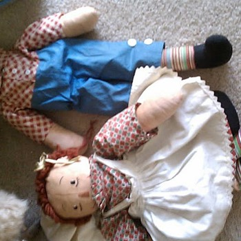 unknown raggedy ann and andy - Dolls