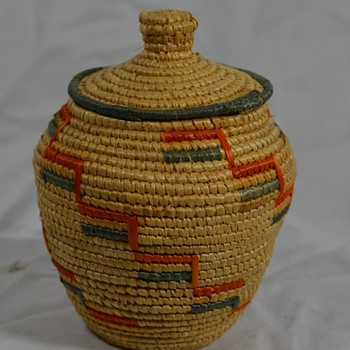 Small Alaska Native Basket - Native American