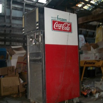 Super rare 1961 Frozen Coca Cola machine
