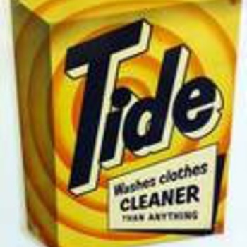 Tide advertising metal