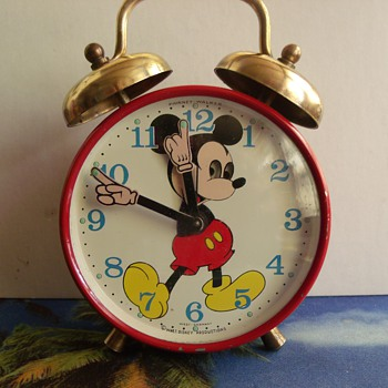 Animated  Moving Eyes Mickey Mouse Alarm Clock - Clocks
