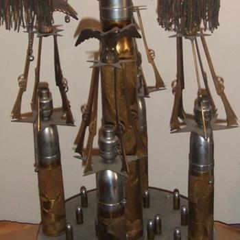 Monumental Trench Art Lamp
